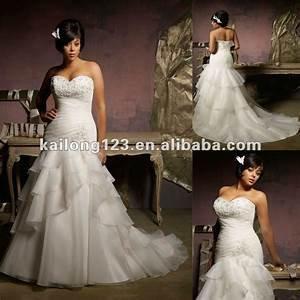 plus size sweetheart drop waist a line crystal beading With drop waist a line wedding dress