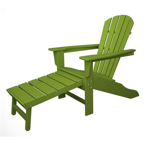 polywood adirondack chair liegestuhl mit fussteil