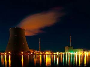 Nuclear Power Plant  U0026quot Isar U0026quot  At Night