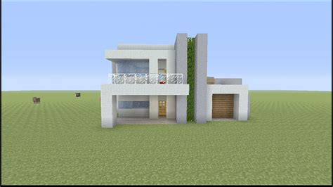 build  small modern house  minecraft youtube