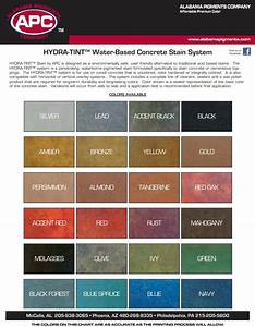 Decorative Concrete Color Charts