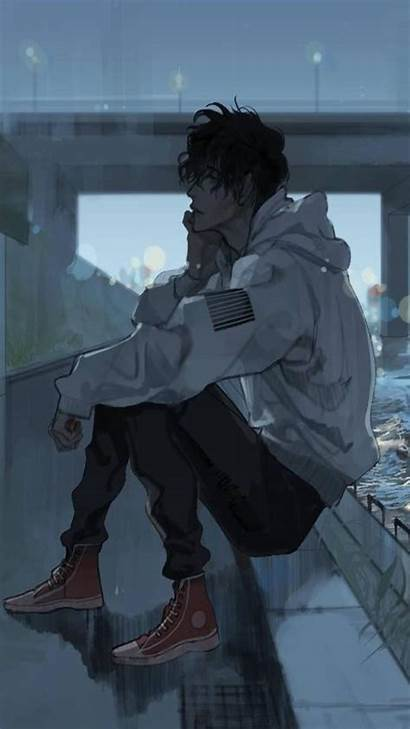 Sad Anime Wallpapers Boy Android Alone Apk