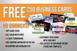 Free 250 business cards absolutely no gimmicks for Free 250 business cards
