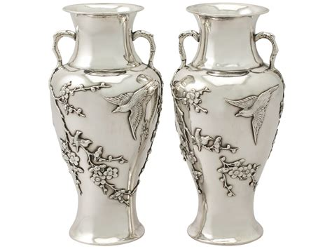 Pictures Of Antique Vases by Export Silver Vases A4794 La49069