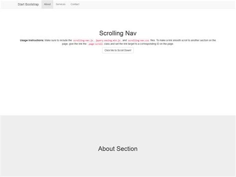 templates scroll page bootstrap scrolling nav bootstrap one page free template