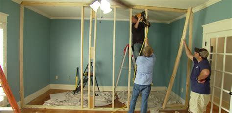 How to Build a Non Load Bearing Interior Wall   Today's