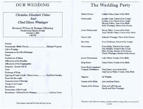 wedding reception program template shatterlion info