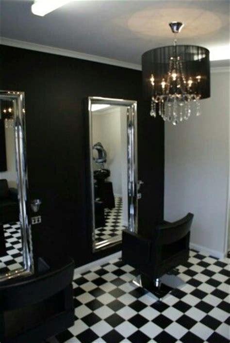 small hair salon  home love black  white small