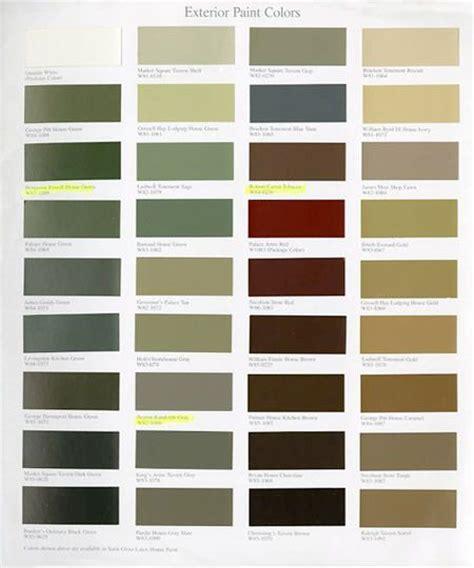 williamsburg paint color chart williamsburg paint colors martin senour paints