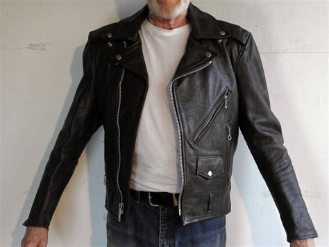 Vintage Men's Used Brown Leather Classic Motorcycle Jacket