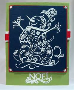 Flourish Snowman Stamp