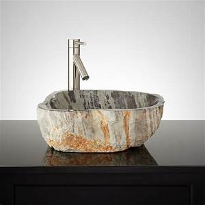 Natural, Stone, Polished, Vessel, Sink