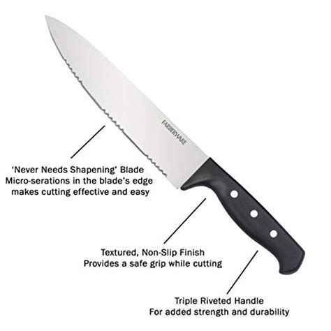 Kitchen Knives That Never Need Sharpening by Farberware 5152501 Never Needs Sharpening 22
