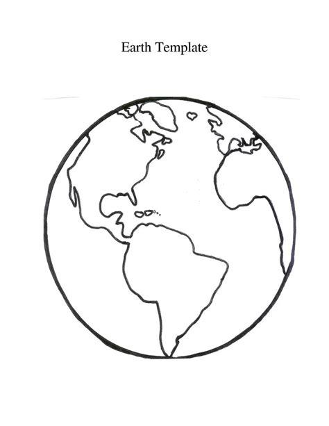 earth outline globe globe printable globe template bulletin boards