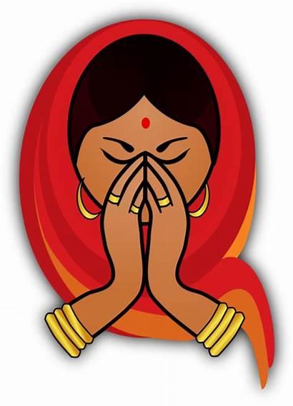 Namaste Indian Clipart Welcome Clip Transparent Hindu