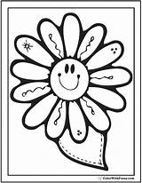Coloring Spring Flowers Printable Flower Sheets Daisy Happy Disegni Adults Colorare Primavera Printables Floral Colouring Fiori Flowerring Awesome Patterns Kindergarten sketch template