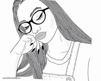 Coloring Pages Printable Teen Girly Adults Teenage