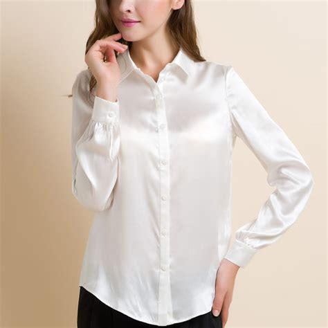 silk white blouse s xxxl fashion silk satin blouse button silk