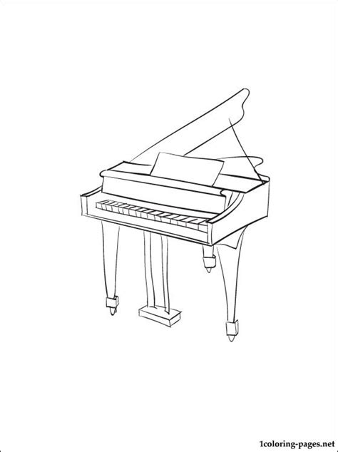 piano coloring page coloring pages