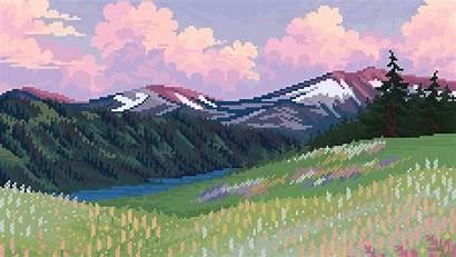 Pixel Landscape Nature 4k Background Wallpapers Artistic