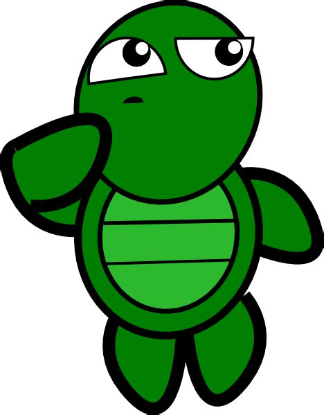 Thinking Clipart Turtle Thinking Clip At Clker Vector Clip