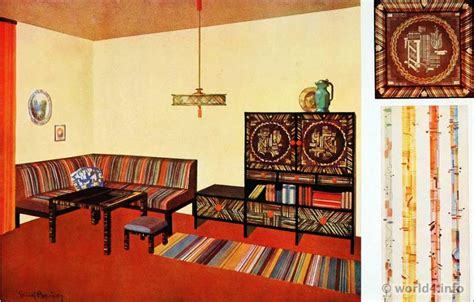 German Art Deco Design, Color And Furniture, 1930s.