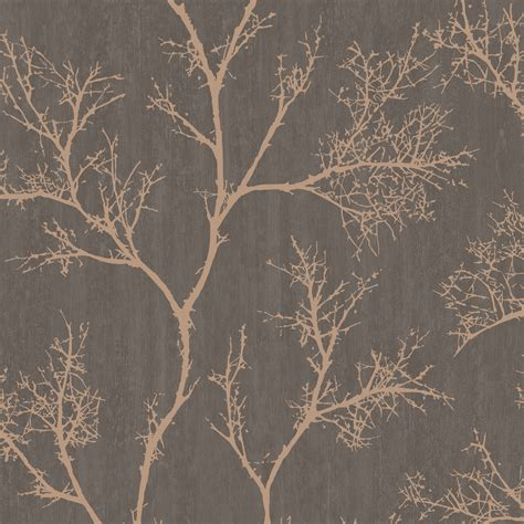 graham brown brown gold icy trees wallpaper brown