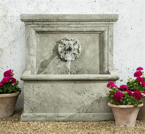 st aubin garden wall outdoor fountains and