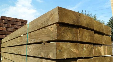 Softwood Sleepers by New Green Pressure Treated Softwood Sleeper Buy Railway
