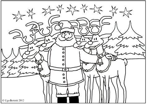 Renne Di Babbo Natale Natale Da Colorare