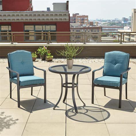 hton bay elmont 3 patio dining set shop your