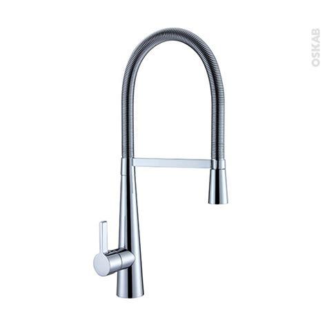 changer robinet de cuisine robinet de cuisine volga mitigeur avec douchette chromé