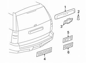 Chevrolet Tahoe Liftgate Finish Panel  Camera  Rear