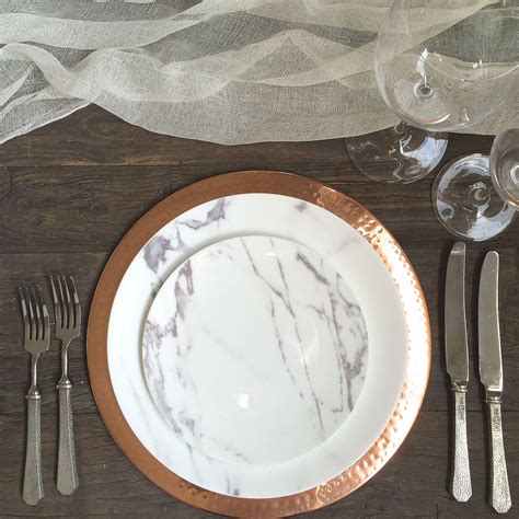 marble dinner plates the ark collection copper charger marble 4003
