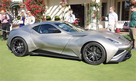 titanium bodied icona vulcano supercar debuts  pebble