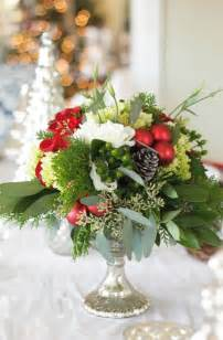 Christmas Wedding Flower Arrangement Centerpiece