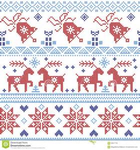 and light blue and scnadinavian cross stitch pattern including reindeer