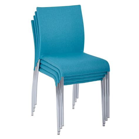 ave six conway aqua fabric stacking chairs set of 4