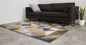 Made Com : grey mustard yellow rug large wool tufted geometric 160 x 230cm henrik ~ Orissabook.com Haus und Dekorationen
