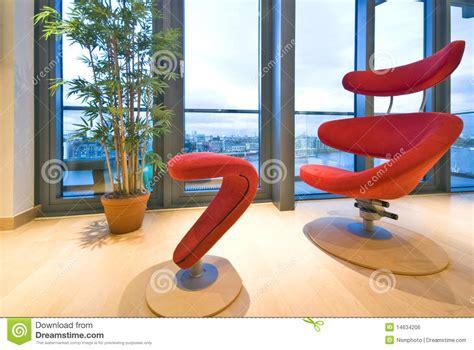 Poltrona Rossa Del Progettista Fotografia Stock