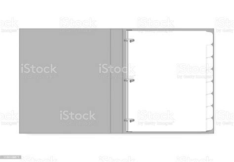 ring binder filled  hole punched white paper  tab