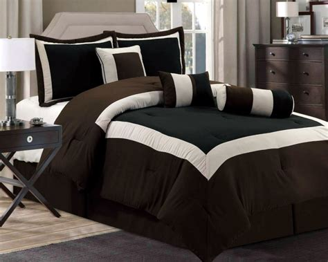 new chocolate brown black bedding hton comforter set