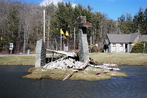 historic landmark storm knocks grandfather mountain