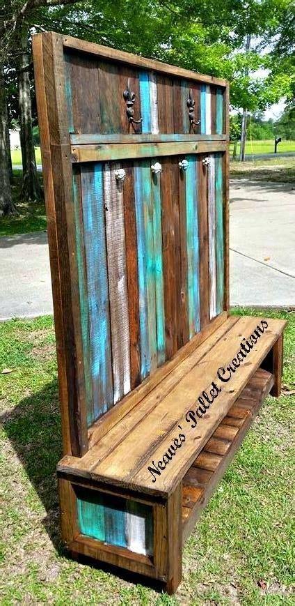wooden pallets  customized hall tree pallets ideas