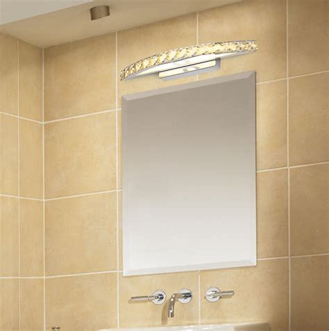 kristall le led kristall led spiegelle spiegelleuchte bilderleuchte wandleuchte badezimmer ebay