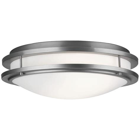 philips cambridge 2 light satin nickel ceiling fixture