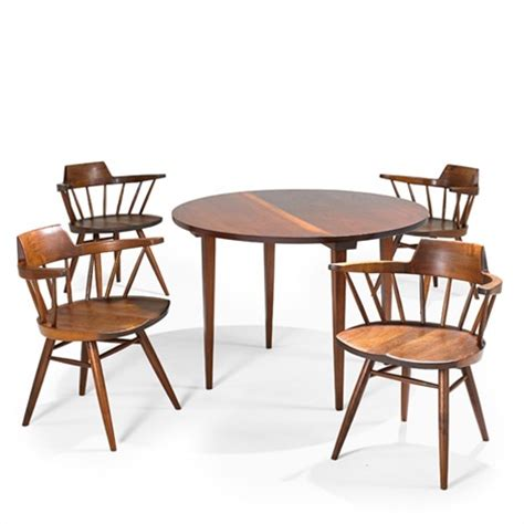dining table and captains chairs 5 works by george