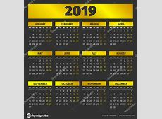 Plantilla calendario 2019 — Vector de stock © 123sasha