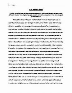 tok essay sample