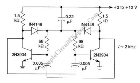 Starting Network For Astable Multivibrator Simple